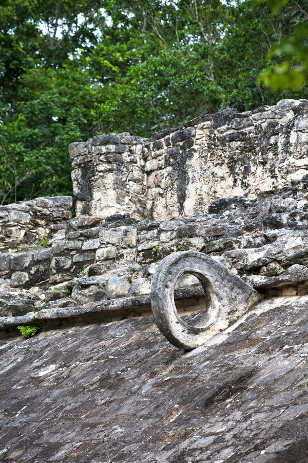 Mayan Doel van Steenballcourt stock afbeelding