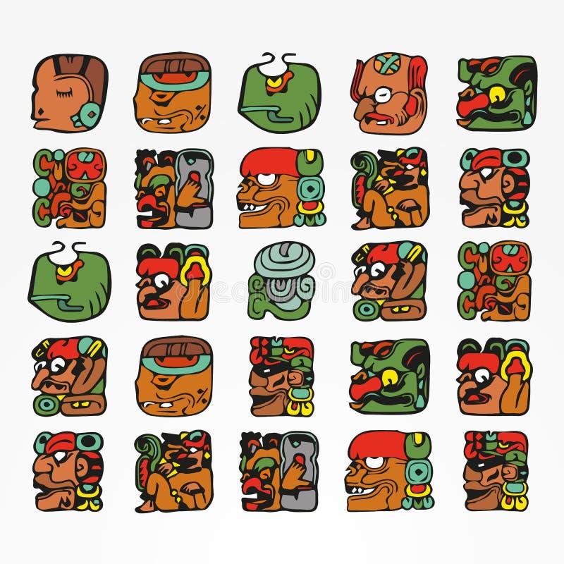Mayan etnisk illustration stock illustrationer