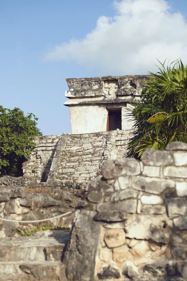 Mayan fördärvar arkivfoton
