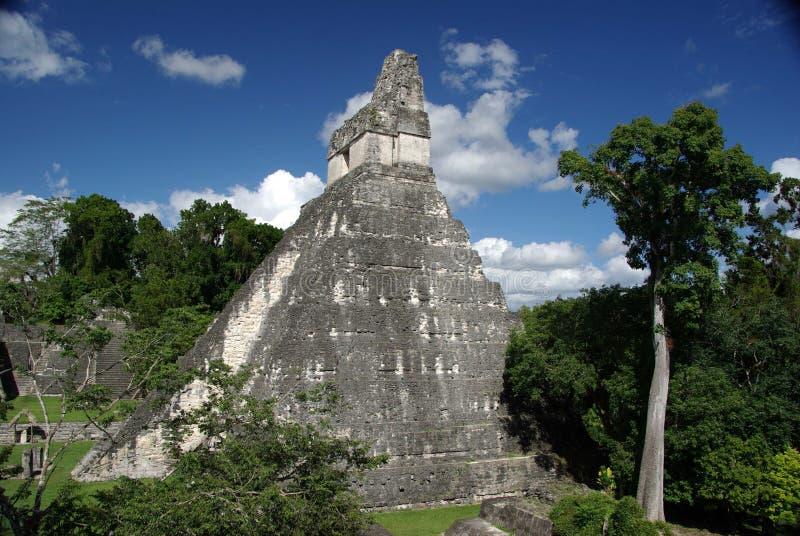 Mayan fördärvar i Guatemala arkivfoto