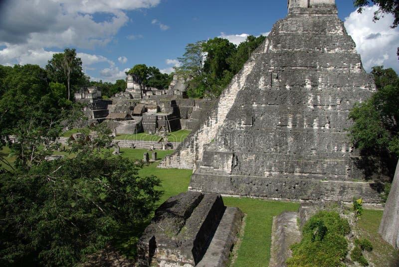 Mayan fördärvar i Guatemala royaltyfri fotografi