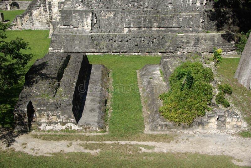 Mayan fördärvar i Guatemala royaltyfri bild