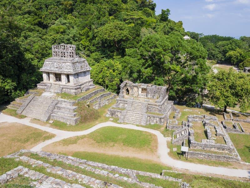 Mayan fördärvar i Palenque, Chiapas, Mexico royaltyfri foto