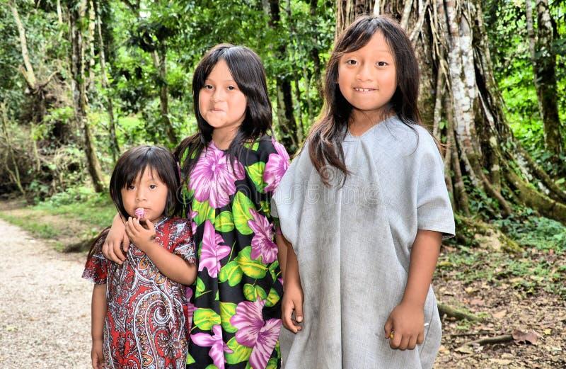 Mayan Girls stock photo