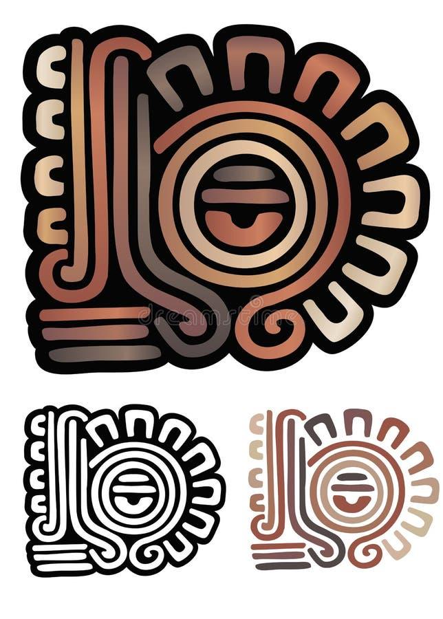Download Mayan glyph stock vector. Image of emblem, aztec, illustration - 24578645