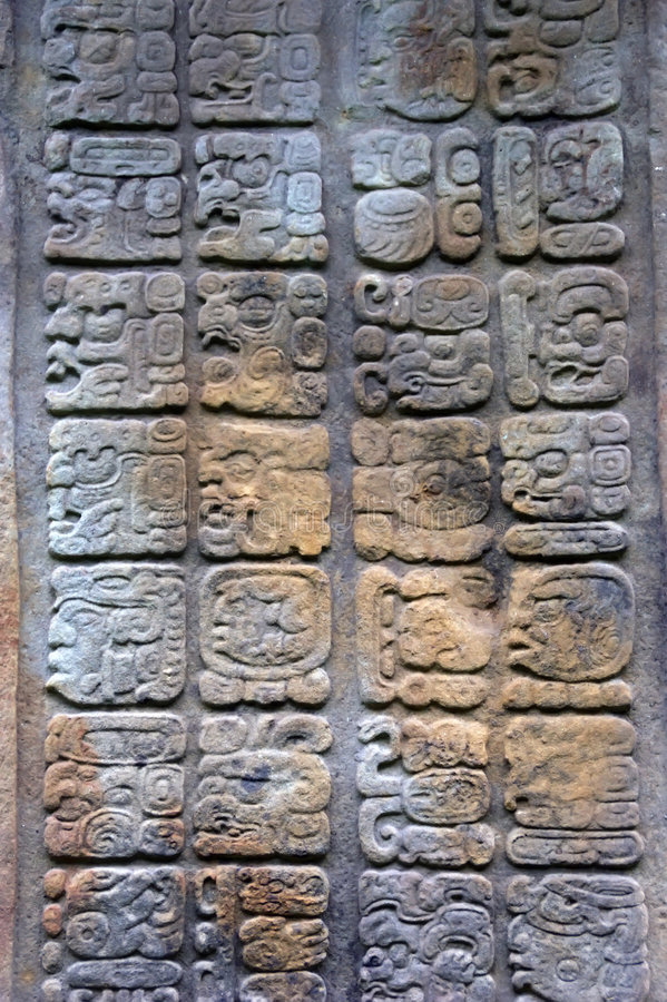 Download Mayan glyphs stock photo. Image of carved, stone, secret - 7157776