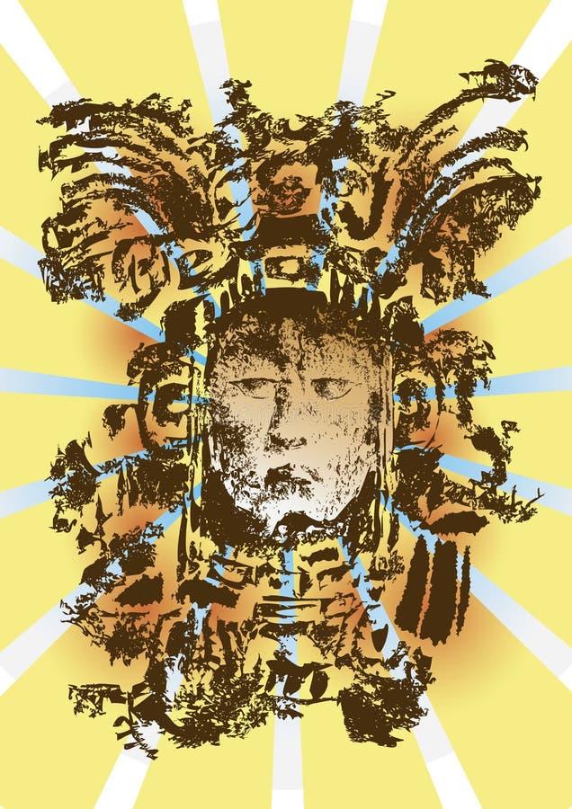 mayan gud vektor illustrationer