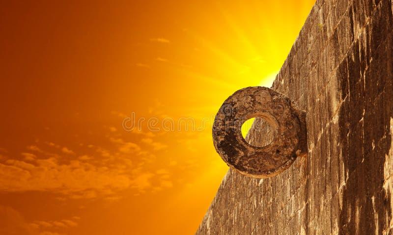 Mayan Hoepel van de steen in de Plaats van Chichen Itza royalty-vrije stock fotografie