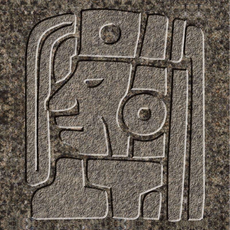 Mayan hulp in graniet wordt gebeiteld dat royalty-vrije stock afbeelding