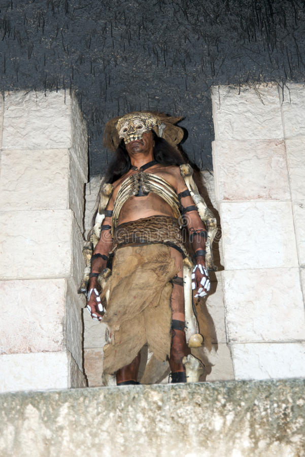 Mayan inwoner stock foto's