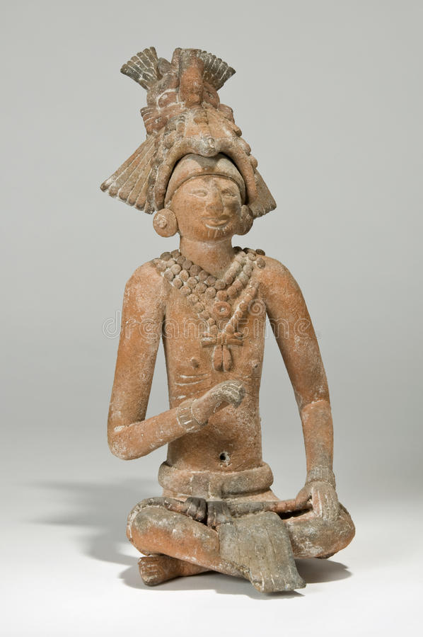 Mayan Jaina King Figurine royalty free stock photo