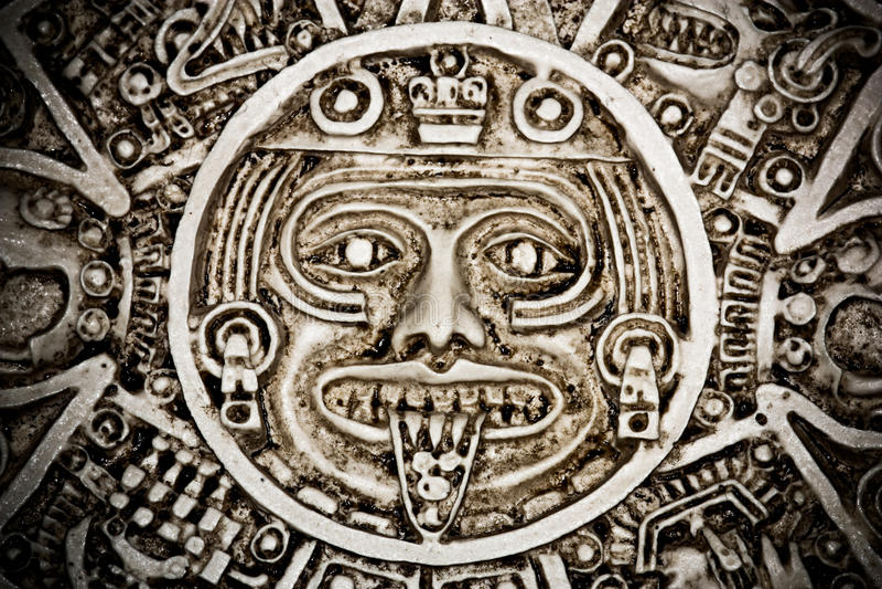 mayan kalender royaltyfri fotografi