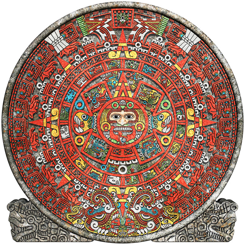 mayan kalender arkivbild