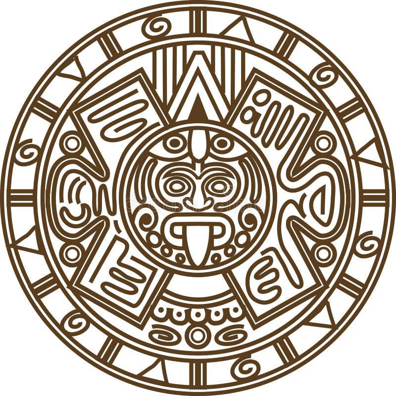 Mayan kalender royaltyfri illustrationer