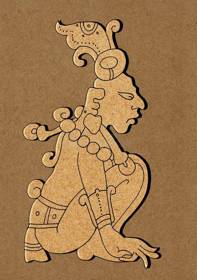 mayan kalenderillustrationmaya royaltyfri illustrationer