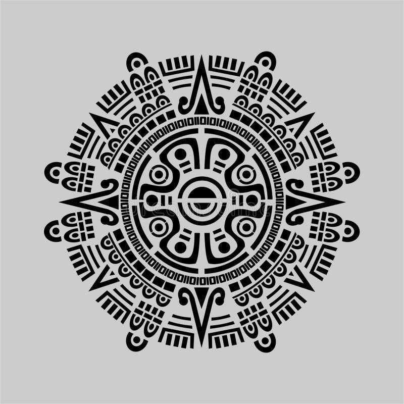 Mayan kalendervektor vektor illustrationer