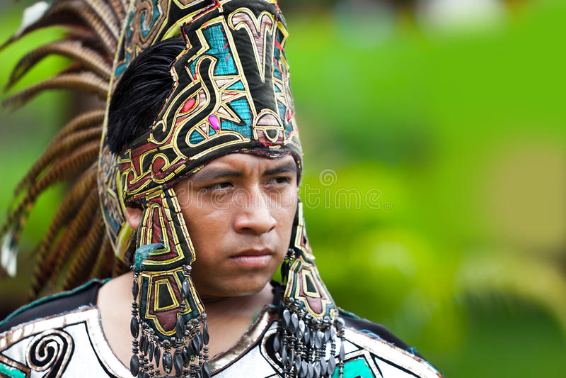 Mayan krigare arkivfoto