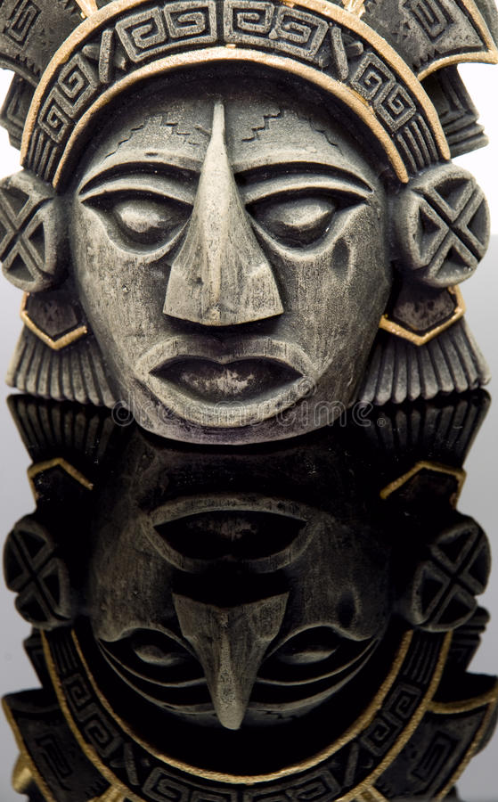 Mayan mask2 stock afbeeldingen