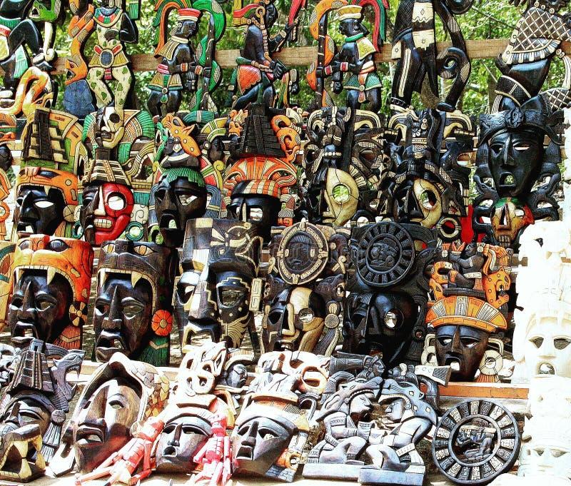 Mayan maskers royalty-vrije stock foto's