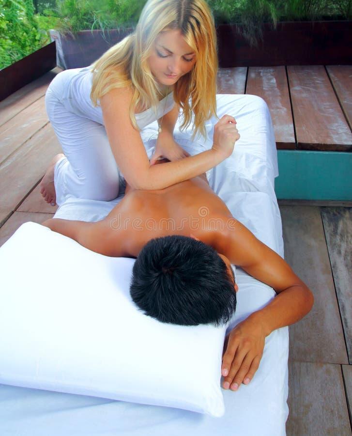 Mayan massage paravertebral physiotherapy royalty free stock images