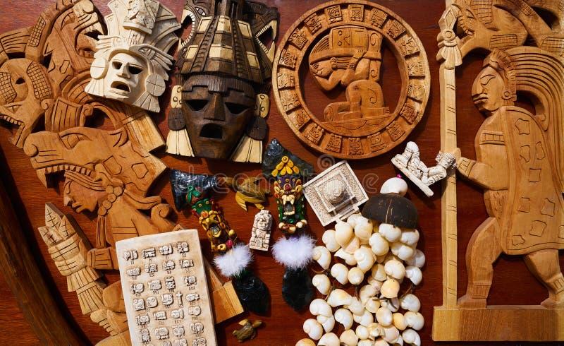 Mayan Mexicaanse mengeling van handcraftsherinneringen stock afbeelding