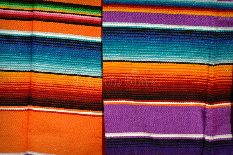 Mayan Mexican Colorful Blankets royalty free stock image