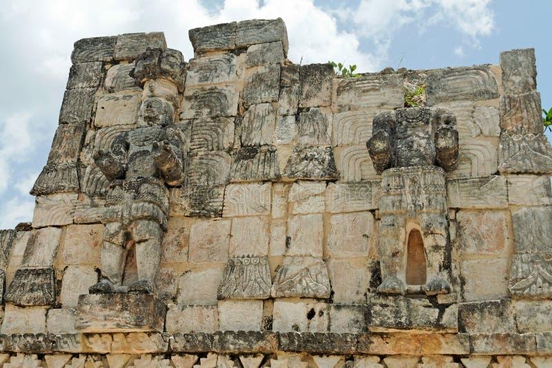 mayan mexico för kabah tempel yucatan arkivfoton