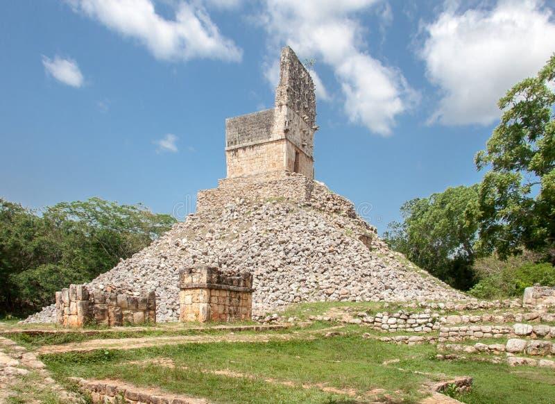 mayan mexico för labna tempel yucatan arkivfoto