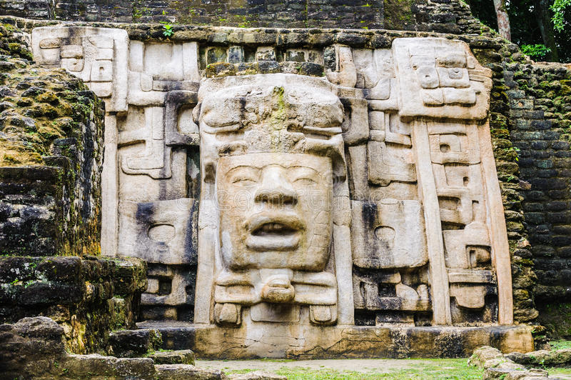 Mayan oude symblols royalty-vrije stock foto
