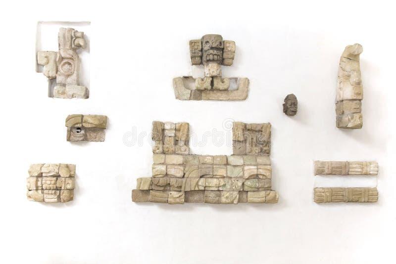 Mayan overblijfselen royalty-vrije stock afbeelding