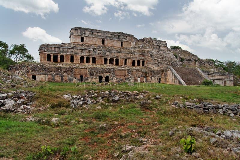 Mayan Palace in Sayil Yucatan Mexico stock images