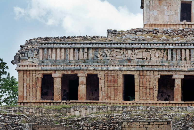 Mayan Palace in Sayil Yucatan Mexico royalty free stock photography