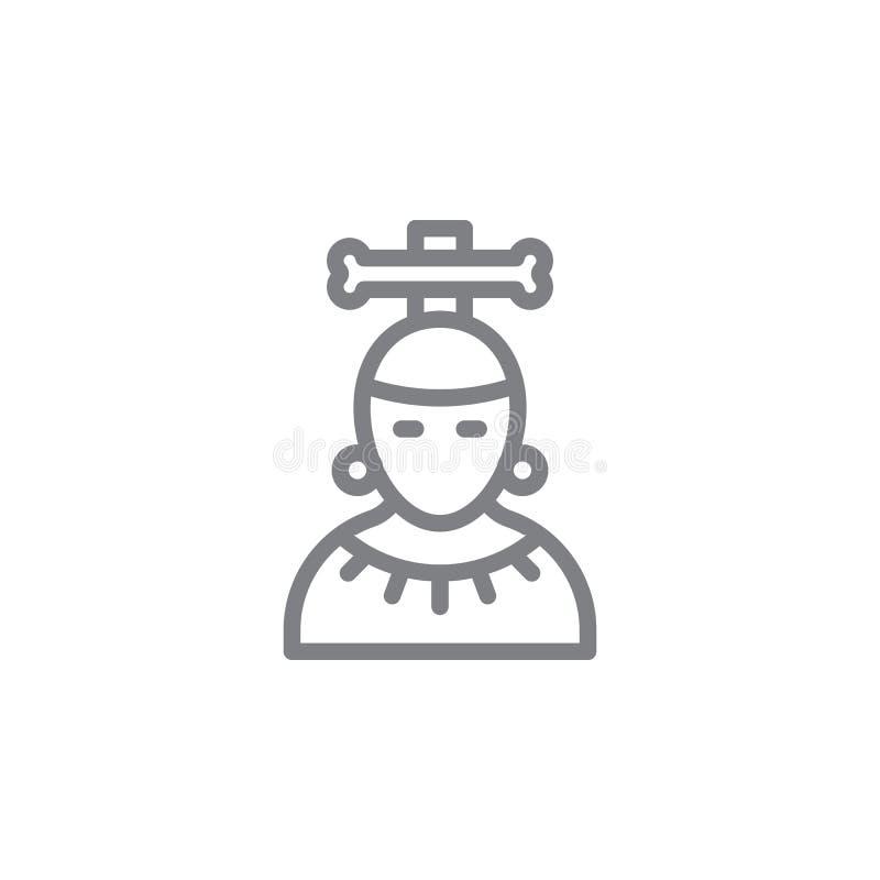 Mayan pictogram Element van myphologypictogram Dun lijnpictogram voor websiteontwerp en ontwikkeling, app ontwikkeling Het pictog vector illustratie
