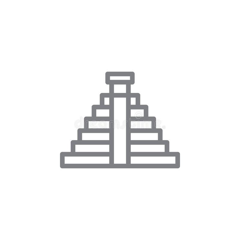 Mayan pictogram Element van myphologypictogram Dun lijnpictogram voor websiteontwerp en ontwikkeling, app ontwikkeling Het pictog royalty-vrije illustratie