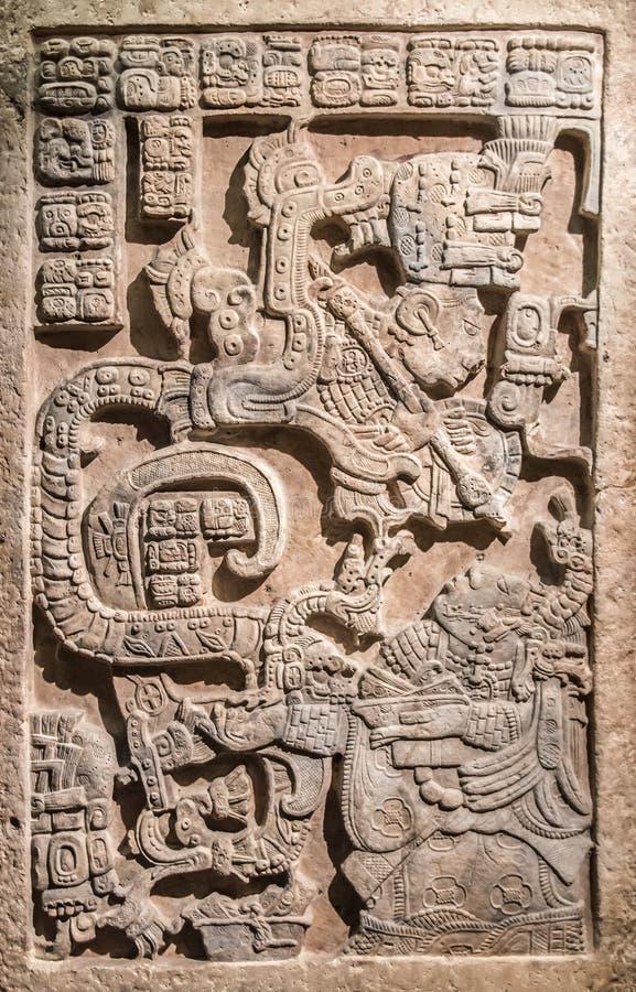 Mayan Plak van de Steenkunst van ADVERTENTIE 770 stock foto