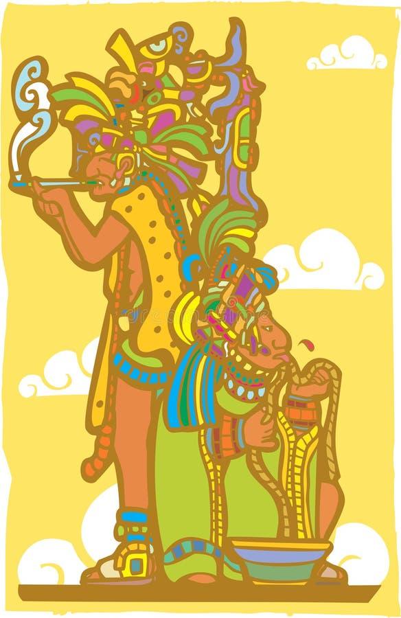 mayan präster royaltyfri illustrationer