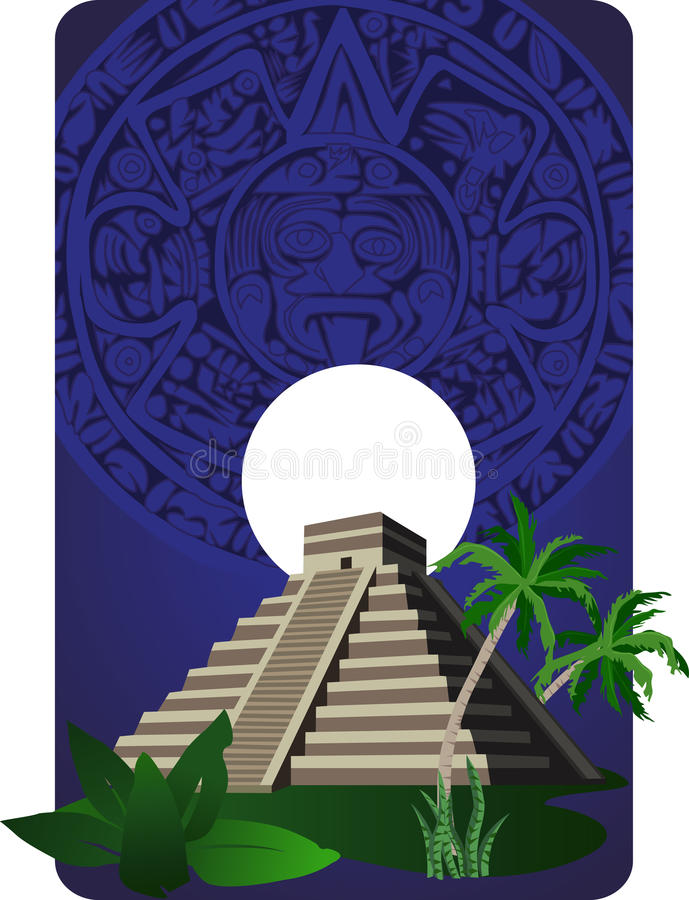 Mayan Pyramid royalty free illustration