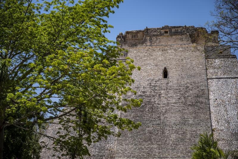 Mayan pyramid at Chichen Itza, Yucatán State, Mexico royalty free stock photo