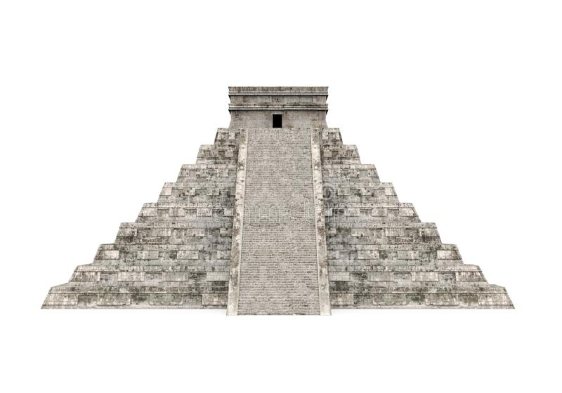 Mayan Pyramid Isolated. On white background. 3D render vector illustration