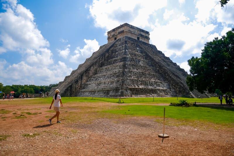 Mayan pyramid of Kukulkan royalty free stock photo
