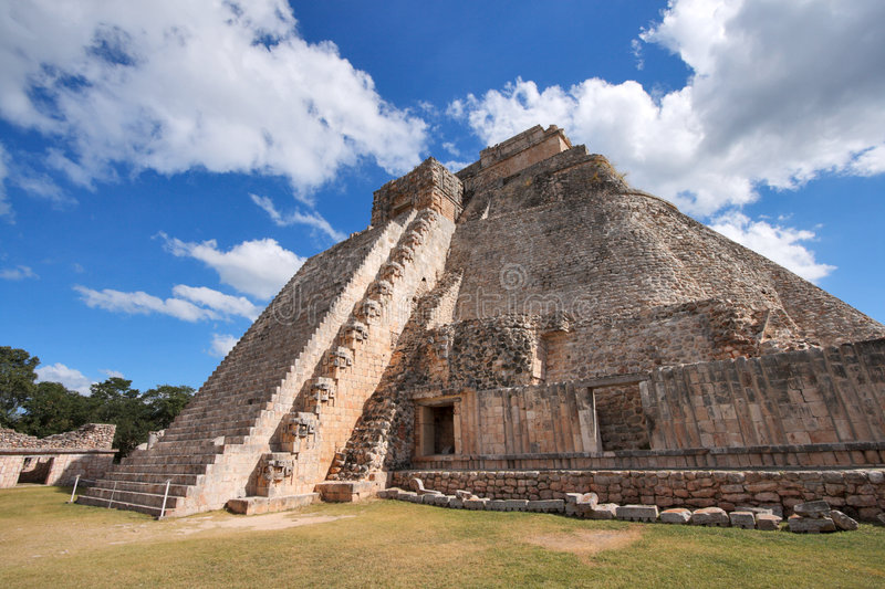 Mayan Pyramid in Mexico royalty free stock image