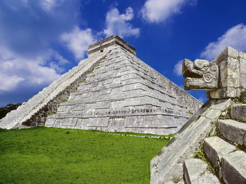 Download Mayan pyramid, Mexico stock image. Image of building - 32015731