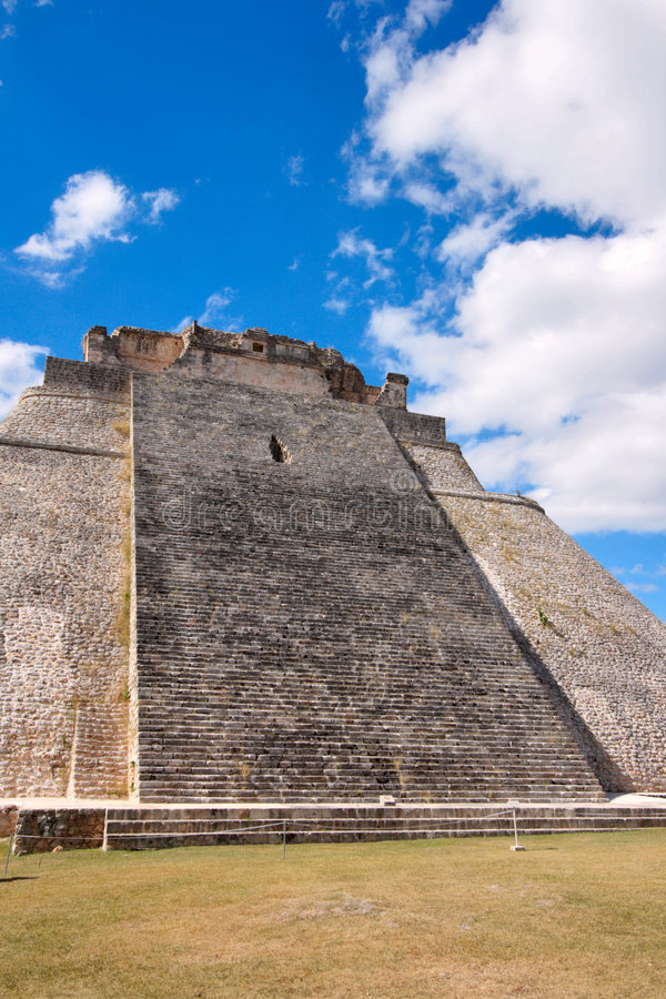 Mayan pyramid in Uxmal, Mexico royalty free stock photography