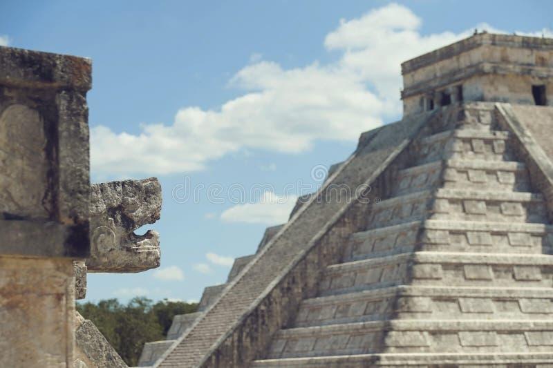 Mayan pyramider royaltyfri fotografi