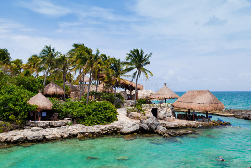Mayan Riviera Paradise. In Mexico stock photo