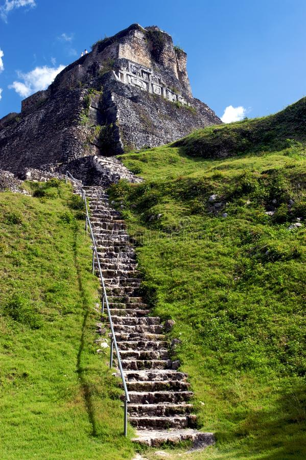 Mayan ruïne royalty-vrije stock fotografie