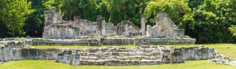 Mayan ruïnes in Cancun royalty-vrije stock fotografie