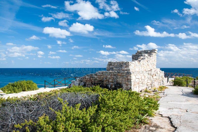 Mayan Ruïnes op het Punt stock afbeeldingen