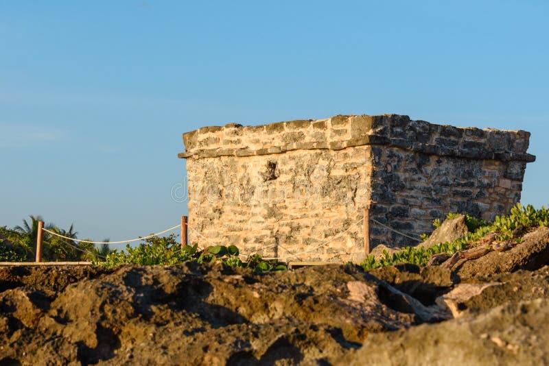 Mayan ruïnes in Riviera Maya, Cancun, Mexico stock foto