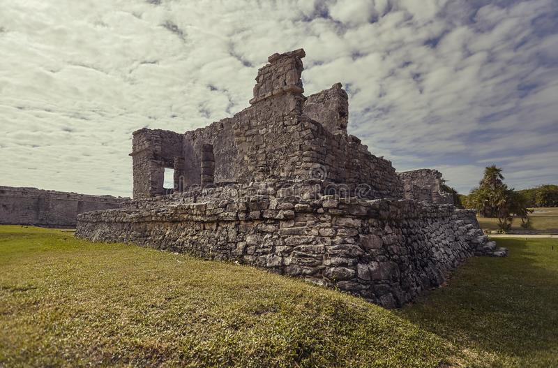 Mayan ruïnes in Tulum royalty-vrije stock afbeelding